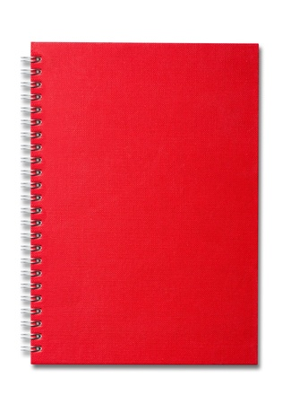Red color Cover Note Book photo