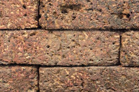 Texture of Laterite stone wall photo