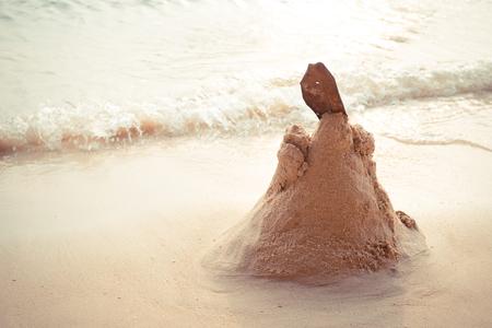 sandcastle: sandcastle on the beach