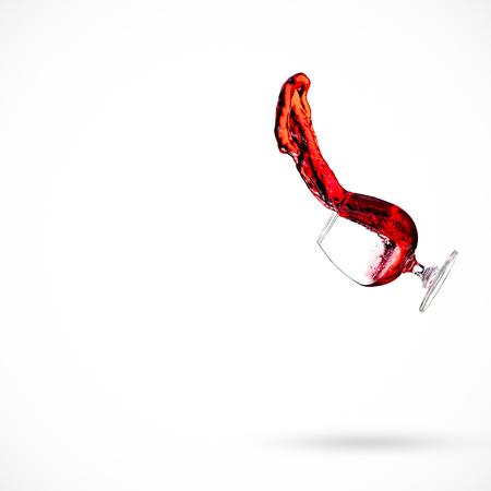 Red wine drop splash