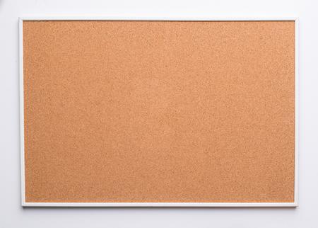 cork board on white back ground