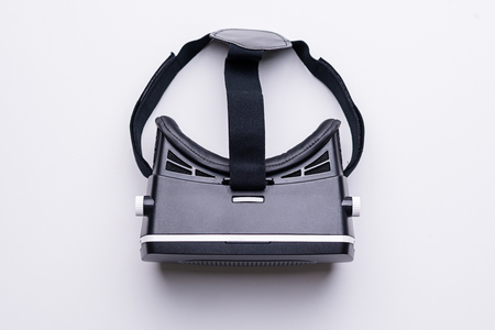VR Glasses for a smartphone. top view on white background. Stock Photo