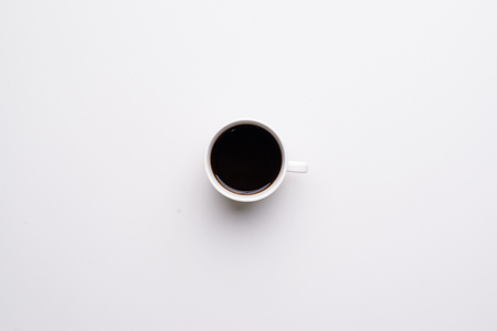 coffee cup top view Stock Photo