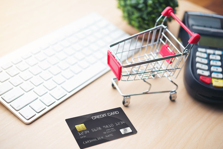 charged: mobile payment ,online shopping concept