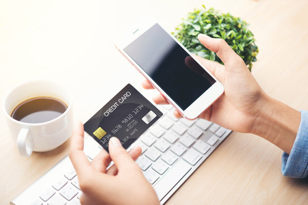 mobile telephone: mobile payment ,online shopping concept