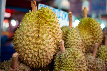 Durian is sold at the market