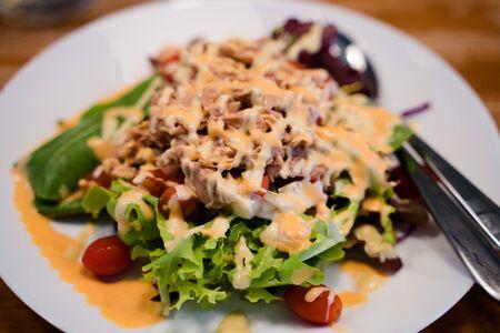 Tuna salad with various vegetebles Stock Photo