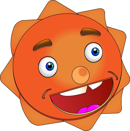 Smiling Sun Vector Illustration Stock Vector - 15897276