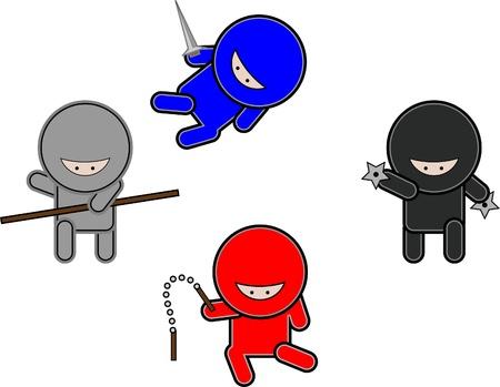 Cute Vector Ninjas