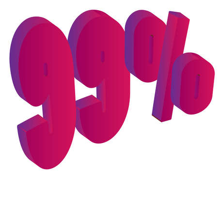 99 Percent 3D Vector Illustration Stock Vector - 16008303