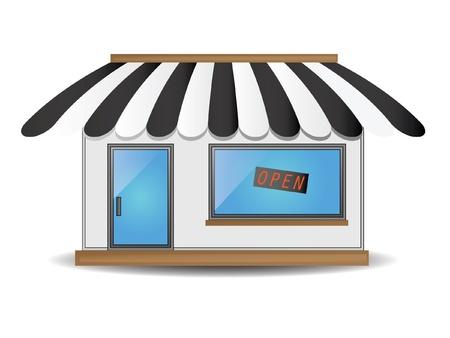 Schattig Shop Icoon Stock Illustratie