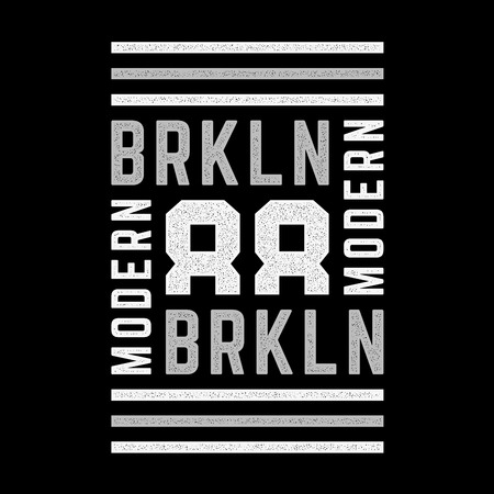 Vintage design. Brooklyn. New York. Colorful grunge modern banner. Retro print for t-shirts. Design for t-shirts, posters.