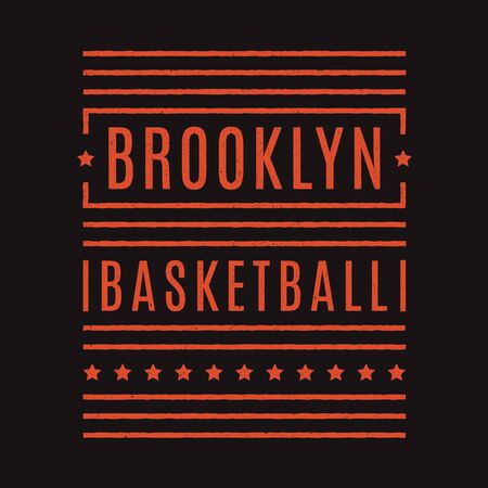 Vector retro illustration on the theme of Brooklyn. Urban style. Stylized vintage grunge typography, banner, flyer, postcard, t-shirt graphics, poster, print. Archivio Fotografico - 150272047