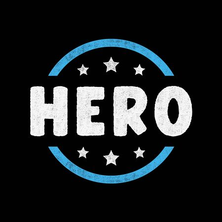 Hero lettering. Retro grunge symbols. Vintage letters. Illusztráció