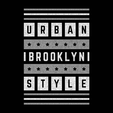 Vector retro illustration on the theme of Brooklyn. Modern. Stylized vintage typography, banner, flyer, postcard, t-shirt graphics, poster, print. Archivio Fotografico - 150323957