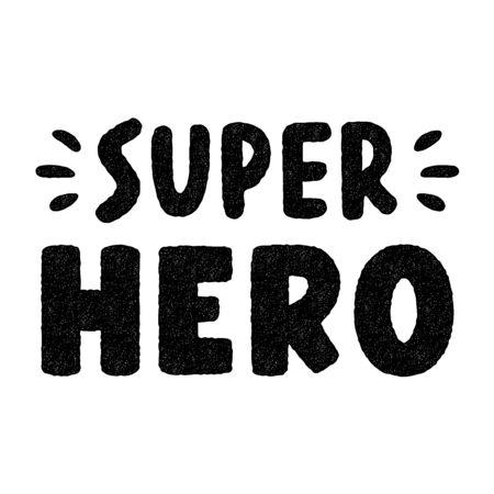 Super hero. Retro grunge symbols. Vintage letters. Illusztráció