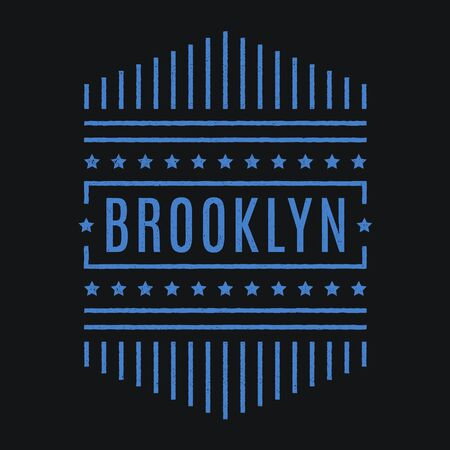 Vector retro illustration on the theme of Brooklyn. Modern. Stylized vintage typography, banner, flyer, postcard, t-shirt graphics, poster, print. Archivio Fotografico - 150323979