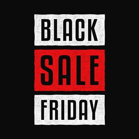 Black friday. Super sale. Vintage colorful banner. Retro design. Stock Illustratie
