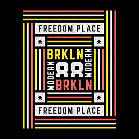 Retro Brooklyn print. Stylized vintage grunge poster.
