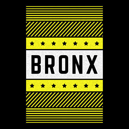 Vector retro illustration on the theme of Bronx. Urban. Modern. Stylized vintage grunge white typography, t-shirt graphics, poster, print.