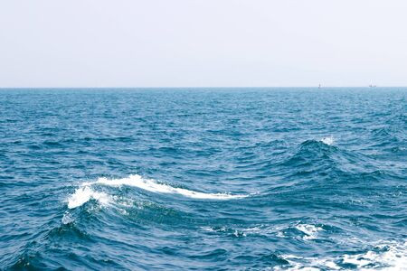 ferrying: Sea wave during ferrying in the sea