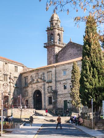 Santiago de Compostela, Spain - December 14, 2013 - View of the San Domingo de Bonaval church in Santiago de Compostela