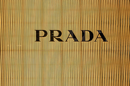 Tokyo, Japan - February 20, 2014 - Letters in the Prada store in Ginza district, Tokyo, Japan