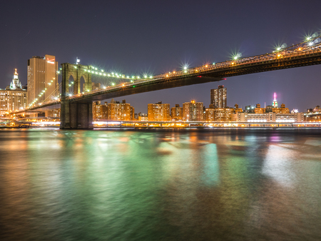 NEW YORK, USA - JANUARY 5, 2015: The Brooklyn Bridge receives thousands of pedrstrians and cyclists cross each day.