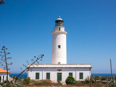 Views of the beautiful La Mola lighthouse in a sunny day