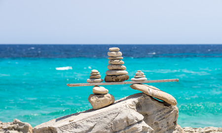 Typical wood and stones structures seen in Formentera island, Spain
