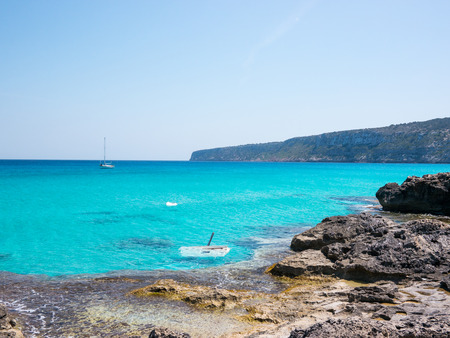 A sunken ship in fron of Es Calo village, Formentera