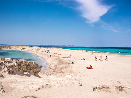 The beach of Ses Illetes, Formentera