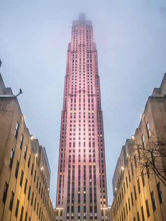 NEW YORK - JANUARY 3, 2015: Rockefeller Center is a complex of different commercial buildings located in Midtown Manhattan. Editorial