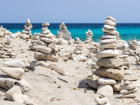 These compositions can be seen in Ses Illetes beach, Formentera, Spain