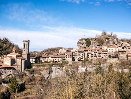 Views of the village of Rupit in Catalonia, Spain