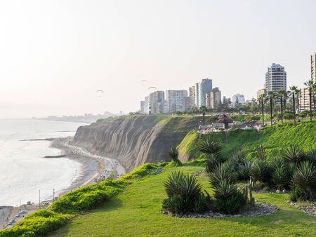 Views of the Lima coast called La Costa Verde Stock Photo