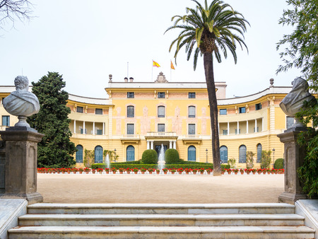Royal palace of Pedralbes in Barcelona, Spain
