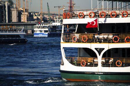 ferry in istanbul bosphorus, europa 스톡 콘텐츠
