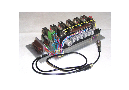 electromagnetic: Block of the system of the autocontrol with use electromagnetic relay Stock Photo