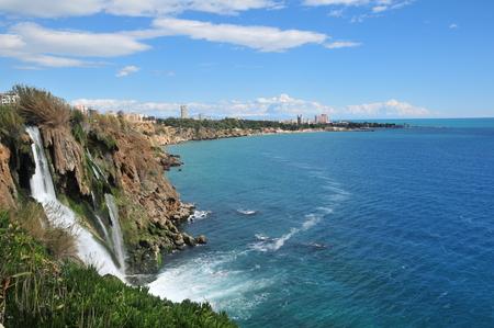 Antalya, Duden Waterfall Stock Photo