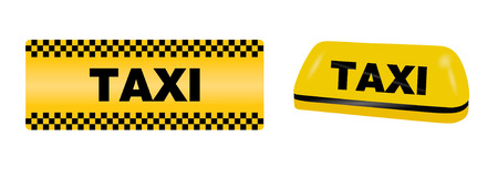 Taxi hill lamp Vectores