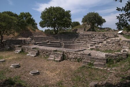 Ancient city of troyes in Canakkale, theater Banco de Imagens