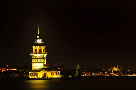 Maidens Tower, Uskudar, Istanbul, Turkey Stock Photo