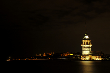 Maidens Tower, Uskudar, Istanbul, Turkey Stock Photo