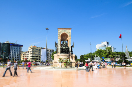 Taksim Republican Monument Stock Photo