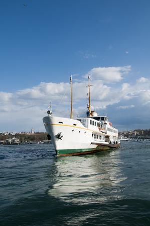 Passenger ship docked