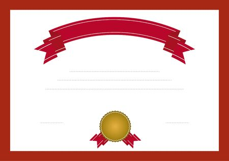 Certificate template Stock Illustratie