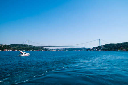 The Bosphorus which connects Europe and Asia, Istanbul.
