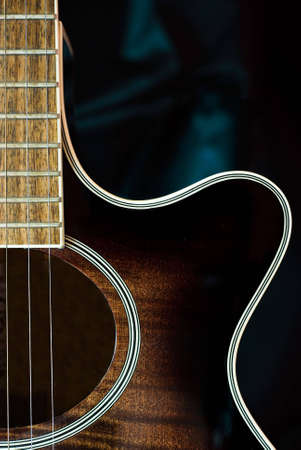 fingering: Detail of acoustic guitar