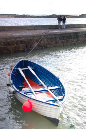 settlement: Rowing boat in Northumberland harbour